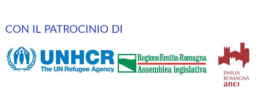 Con il patrocinio di UNHCR, Regione Emilia Romagna, ANCI Emilia Romagna