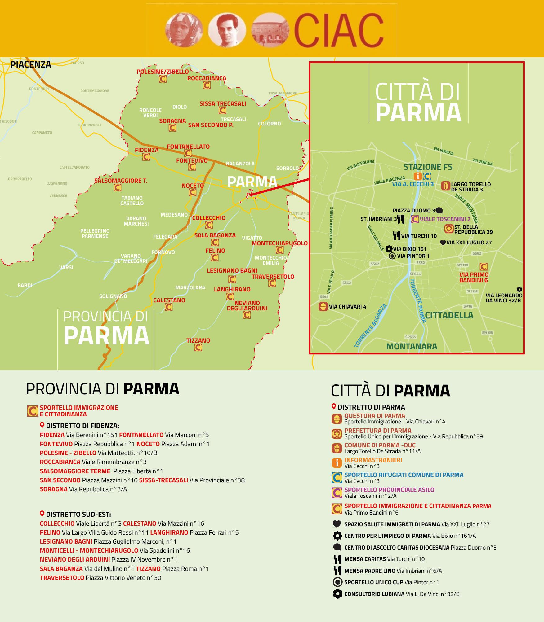 La rete degli Sportelli a Parma