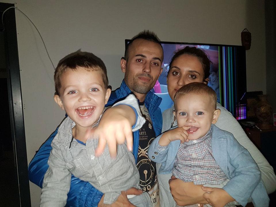 Con la mia famiglia
